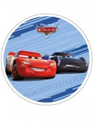 Disque en azyme Cars™ bleu 21 cm
