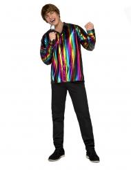 Chemise disco rainbow homme