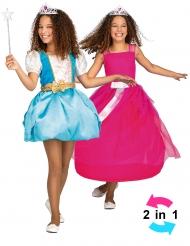 Déguisement princesse magique 2 en 1 fille