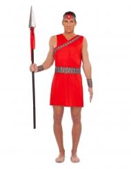Déguisement Massaï rouge homme