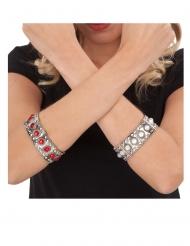 Bracelet reine médiévale rouge adulte
