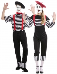Déguisement de couple mime adulte