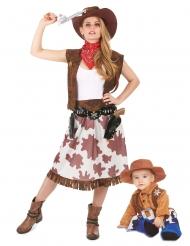 Déguisement de couple cowboy mère et fils