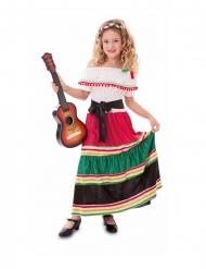 Déguisement mexicaine colorée fille