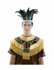 Couronne à plumes Aztèque adulte