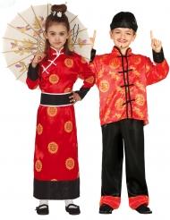 Déguisement de couple chinois rouge enfant