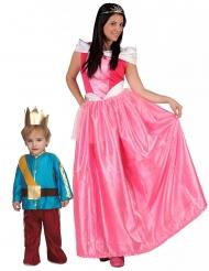 Déguisement de couple princesse et son prince mère et fils