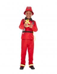 Déguisement pompier rouge garçon