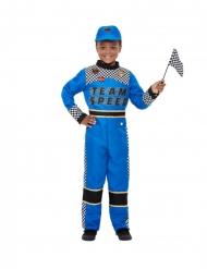 Déguisement pilote de formule 1 bleu garçon
