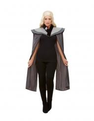 Cape médiévale grise femme