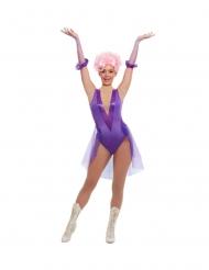 Déguisement trapéziste de cirque violet femme