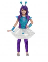Déguisement alien bleu et violet fille