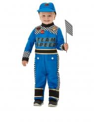 Déguisement pilote de voiture de course bleu bébé