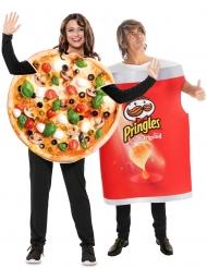 Déguisement de couple Pringles et pizza adulte