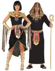 Déguisement de couple Égyptien noir adulte