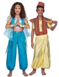 Déguisement de couple prince et princesse orientaux enfants