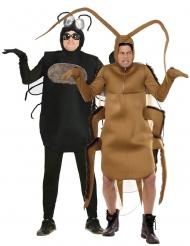 Déguisement de couple mouche et cafard adulte