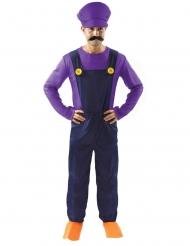 Déguisement plombier violet homme