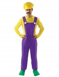 Déguisement plombier jaune et violet homme