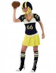 Déguisement joueuse football américain jaune femme
