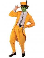 Déguisement comédien masqué vert homme