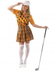 Déguisement golfeuse orange femme