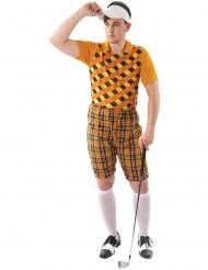 Déguisement golfeur orange homme