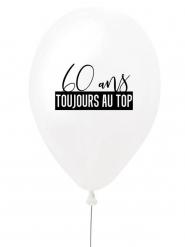Ballon en latex 60 ans toujours au top blanc et noir 27 cm