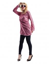 Tunique paillettes roses femme