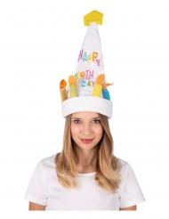 Chapeau musical et dansant gâteau d