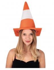 Chapeau cône de chantier adulte