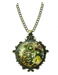 Collier médaillon steampunk adulte