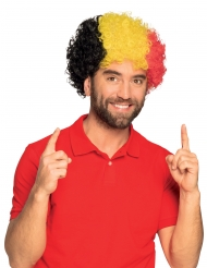 Perruque afro supporter Belgique adulte
