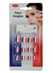Faux ongles supporter France femme