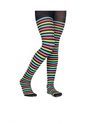 Collants à rayures multicolores enfant