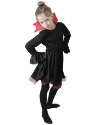 Déguisement vampiresse noire avec col rouge fille