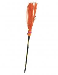 Balai sorcière orange 95 cm
