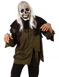 Masque et perruque zombie adulte