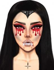Bijoux pour visage adhésifs vampire