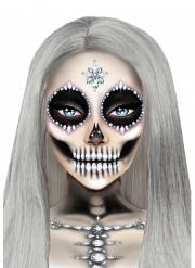 Bijoux pour visage adhésifs squelette