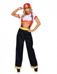 Déguisement luxe pantalon pompier femme