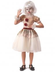 Déguisement clown terrifiant beige fille