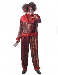 Déguisement clown terrifiant rouge homme
