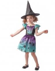 Déguisement sorcière bleu fille