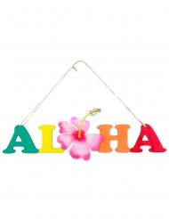 Pancarte en bois Aloha 38 x 39 cm