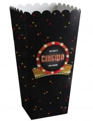 8 Cornets à popcorn carton Hollywood 6 x 17 cm
