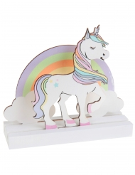 Centre de table en bois licorne 14 x 13 cm