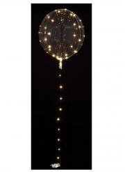 Ballon bulle cristal transparent avec LED blanches 25-30 cm