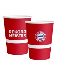 6 Grands gobelets en carton FC Bayern Munich™ 500 ml