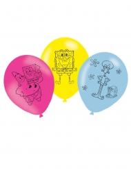 6 Ballons latex Bob l